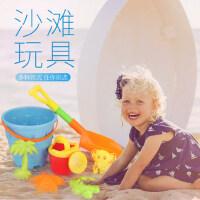 儿童沙滩玩具车套装玩沙漏男孩宝宝大号挖沙工具铲子决明子沙滩车