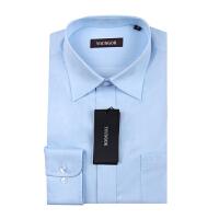Youngor/雅戈尔男士商务正装秋季新款蓝色免烫长袖衬衫NP13243-22