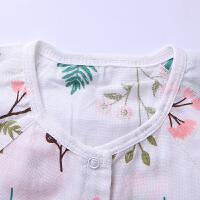 婴儿连体衣夏季宝宝短袖爬服哈衣纯棉小童睡衣家居服