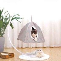 猫咪吊床窗台秋千挂式猫吊篮猫用小吊床宠物挂窝猫猫挂床小猫的床户外吊床