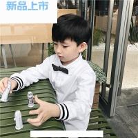 2018男宝宝长袖白衬衫春秋男童翻领上衣婴童装纯色礼服