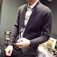 韩版潮流针织毛线衫青年修身外衣男秋冬男士毛衣外套