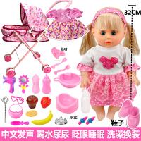 儿童玩具女孩过家家推车带娃娃带娃女童宝宝小推车婴儿手推车