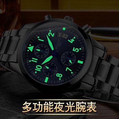 男士手表时尚潮流夜光多功能运动非机械表石英表