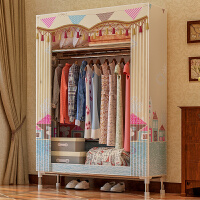 索尔诺布衣柜25MM钢管加粗加固简易衣柜组装单人大号牛津布艺衣橱经济型