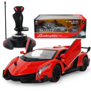 胜雄兰博基尼毒药男孩充电方向盘遥控车充电动遥控汽车儿童玩具