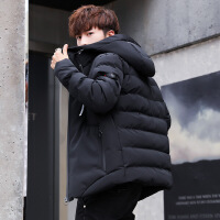 男士冬季外套2018新款男韩版短款青年帅气加厚潮流服袄