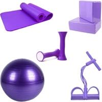 初学者瑜伽垫拉力器瑜伽球套装防滑加厚加宽加长运动健身垫