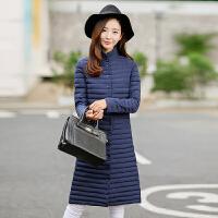 新款女装长款轻便羽绒服女韩版轻薄款加长款过膝潮 2X