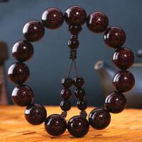 【小叶紫檀】正宗印度男士佛珠手串满金星檀木转运手链108颗 小叶紫檀1.5手串