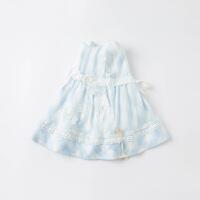戴维贝拉女童连衣裙2021夏季新款童装小童宝宝纯棉裙儿童公主裙
