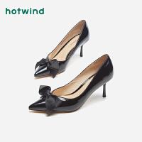 热风小清新女士细高跟鞋浅口尖头细跟单鞋H04W9116