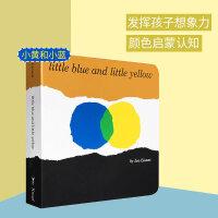 英文原版 Little Blue and Little Yellow 小蓝和小黄 Leo Lionni凯迪克大奖作品