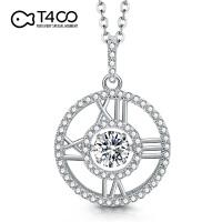T400日本专利跳舞的石头S925银镶嵌施华洛世奇锆石项链 B2872