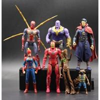 复仇者联盟4玩具模型蜘蛛侠钢铁侠美国队长2灭霸蝙蝠侠公仔