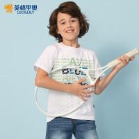 2018夏装新款男童休闲纯棉宽松短袖T恤中大童印花圆领儿童打底衫