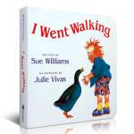英文原版 I Went Walking 撕不破纸板书 吴敏兰书单 第81本0-6岁有趣的故事绘本 锻炼幼儿思维和开发想