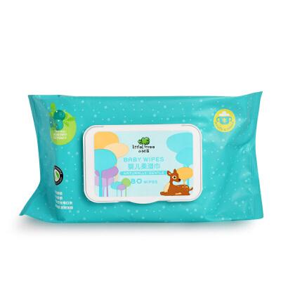 英国 小树苗 little tree新生婴儿童便携清洁手口柔润湿纸巾 80抽