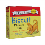 【顺丰速运】进口英文原版 Biscuit Phonics Fun 小饼干狗系列12册盒装 短元音自然拼读 英语启蒙绘本
