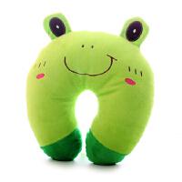 可爱创意抱枕汽车办公室青蛙U型睡觉车饰午休枕床头靠垫午睡