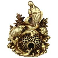 铜鱼 家居饰品 铜工艺品 五福临门鱼 摆件 黄铜鱼风水礼品