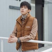 新款灯芯绒棉马甲男秋冬季韩版潮流坎肩帅气加厚保暖背心外套