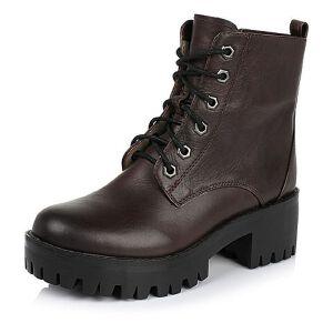 Teenmix/天美意专柜同款牛皮革女皮靴6E542DD5