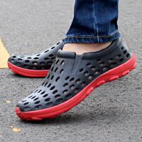 夏季休闲鞋新款男士洞洞鞋凉鞋子男沙滩鞋学生鞋