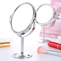 化妆镜台式简约小镜子随身便携迷你公主镜双面镜书桌面宿舍梳妆镜