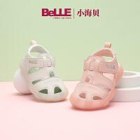 【159元任选2双】百丽童鞋女童小宝宝凉鞋2021新款夏季休闲男童学步鞋儿童包头鞋子