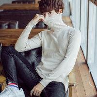 风衣呢大衣的冬季打底衫男士高领毛衣青年针织衫搭配外套