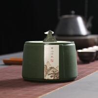 茶叶罐陶瓷红茶普洱茶半斤装存储密封罐子容器