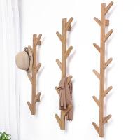 幽咸家居楠竹创意树杈墙上壁挂架 门厅玄关装饰衣帽架 墙上装饰