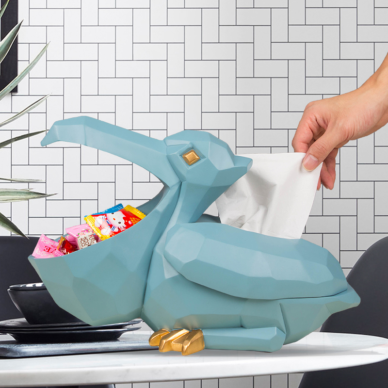创意大嘴鸟纸巾盒摆件北欧家居实用装饰品客厅茶几摆设个性抽纸盒