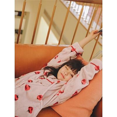 法兰绒月子服秋冬产后孕妇睡衣加绒保暖哺乳套装喂奶家居服