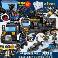 积木拼装玩具军事航母战舰模型兼容某高积木警察男孩子立体拼插塑料儿童组装玩具礼物