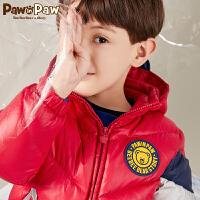 【3件3折 到手价:299】Pawinpaw卡通小熊童装秋冬男童白鸭绒羽绒服中小童保暖