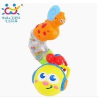 汇乐917百变音乐扭扭虫 音乐动物儿童玩具摇铃带牙胶可旋转