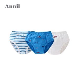 【1件8折后:63.36元】安奈儿童装男童三角底裤三件装2019新款