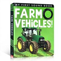 【全店300减100】英文原版 My First Sound Book: Farm Vehicles!农场机器农用车儿童