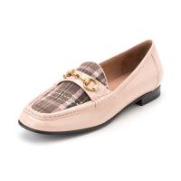 星期六(ST&SAT)秋季牛皮革金属装饰漆面方头乐福鞋SS83111217