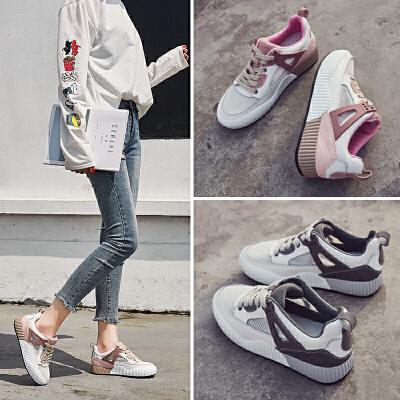 ZHR2018春季新款韩版网鞋网布休闲鞋平底单鞋透气运动鞋学生女鞋V82