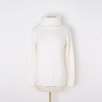 毛衣女士秋冬季韩版高领宽松加厚针织貂绒兔毛套头外套潮