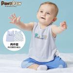 【2件2.5折 到手价:65】Pawinpaw卡通小熊童装夏款男女宝宝2件套背心婴幼儿圆领上衣
