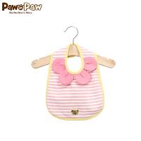 【秒杀价:19】Pawinpaw宝英宝小熊童装男女宝宝款条纹口水兜