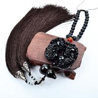 黑曜石貔貅葫芦平安符佛珠汽车挂件车内后视镜吊坠饰品