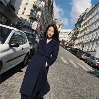 毛呢外套女中长款韩版2018新款秋冬修身显瘦冬季呢子大衣加厚冬装