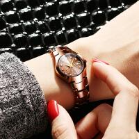 钨钢手表女表 简约石英表时尚潮流情侣女士手表