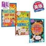 【中商原版】Adam Frost系列百科书3册 英文原版 The Awesome Book 儿童百科知识绘本 人体 动