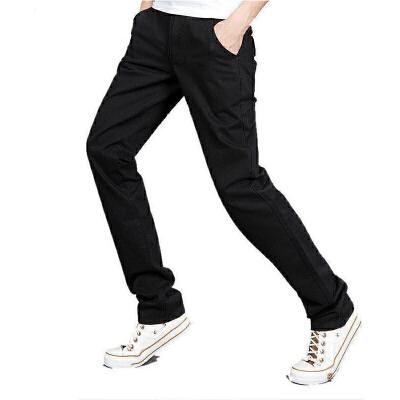 1号牛仔 男士休闲裤直筒小脚裤韩版修身长裤子潮男
